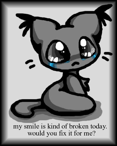 Sad Kitten Cartoon Images & Pictures - Becuo