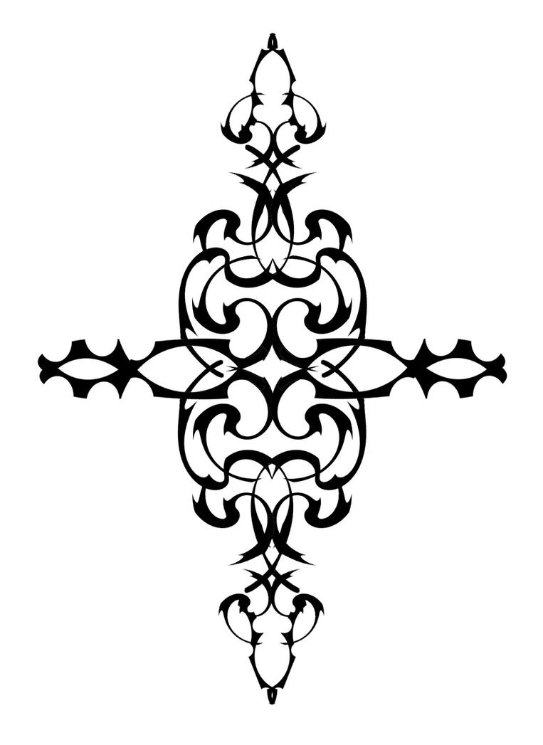 Metal Flower - flower tattoo