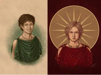 Hephaestion and Prince Alexander of Macedon 339BCE by AlexanderAeternus