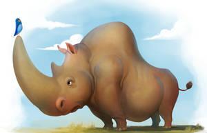 White Rhino by caiomm