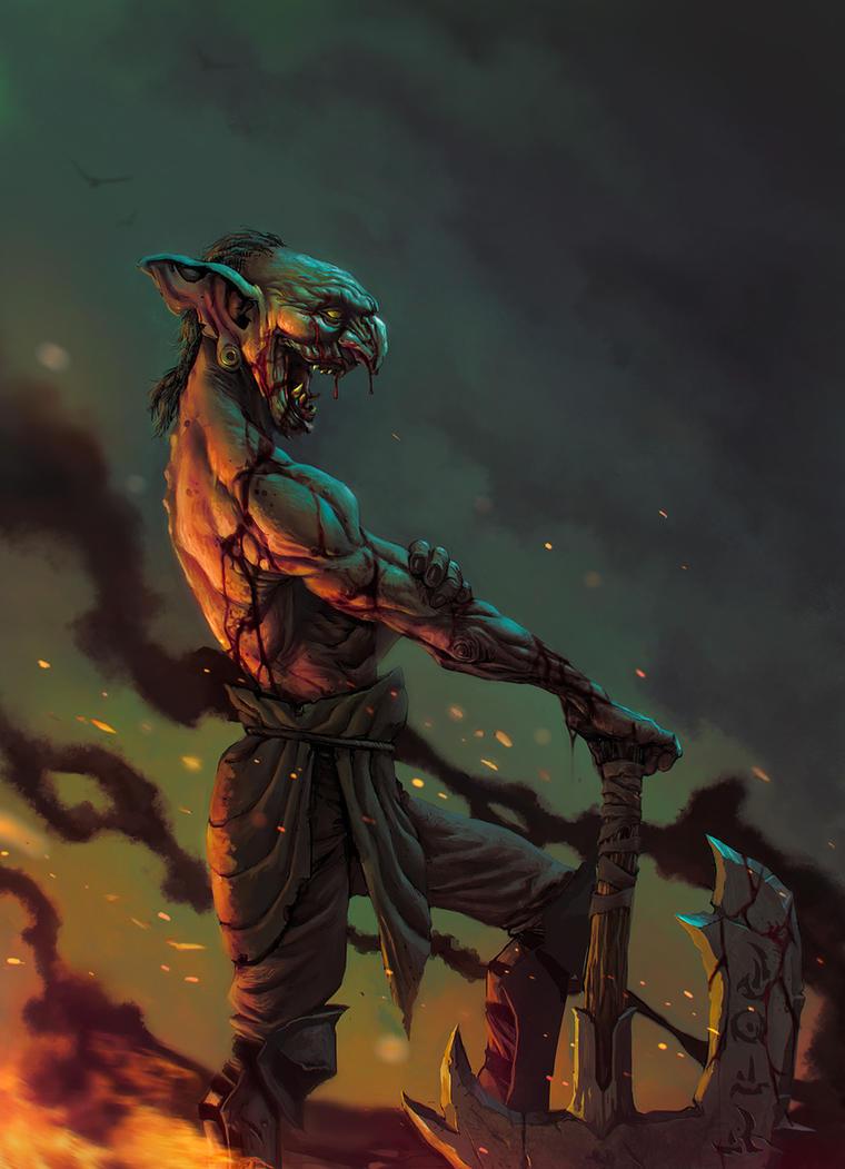 Evil Goblin by caiomm
