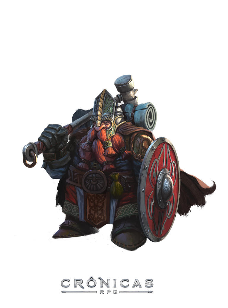 Cronicas Dwarf Guardian - By Caio Monteiro by caiomm