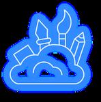 Design-Neon-Icon-Blue