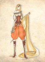 Rapunzel [Steampunk] by PaintedTales