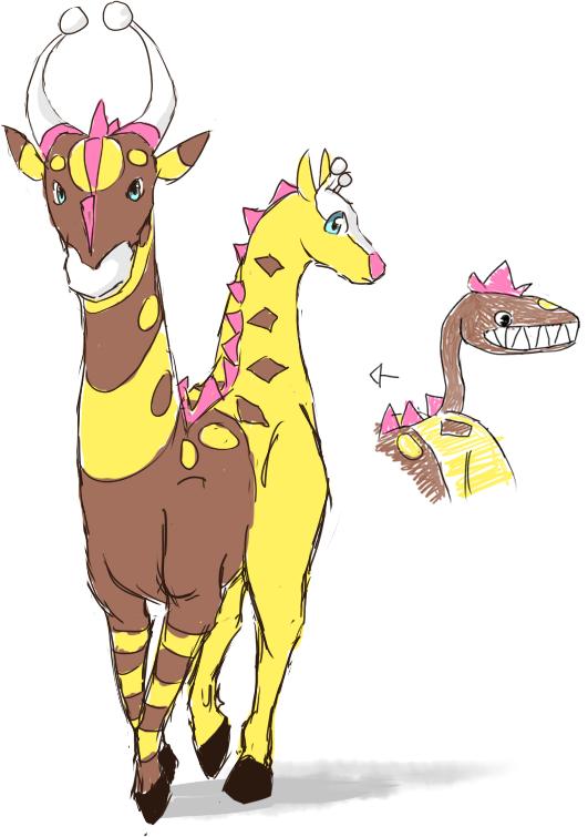 Gallery For gt Girafarig Evolution