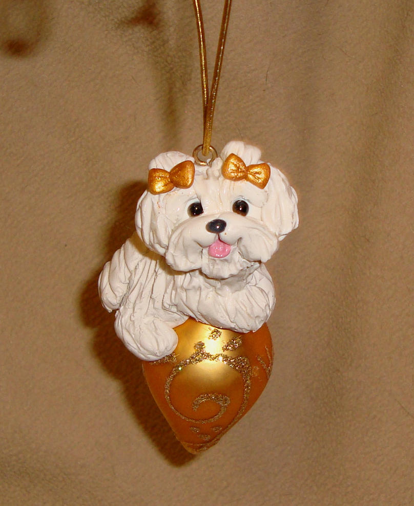 Maltese christmas ornaments - Maltese Christmas Ornament By Erinsk9collectibles