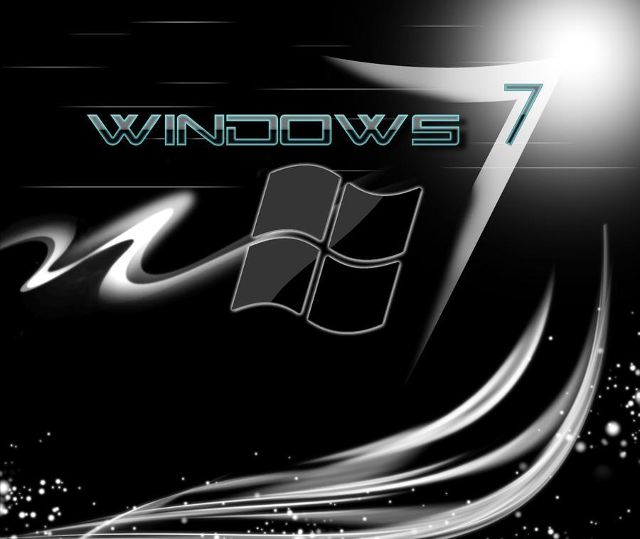 wallpaper windows black. Windows 7 Black Wallpaper by