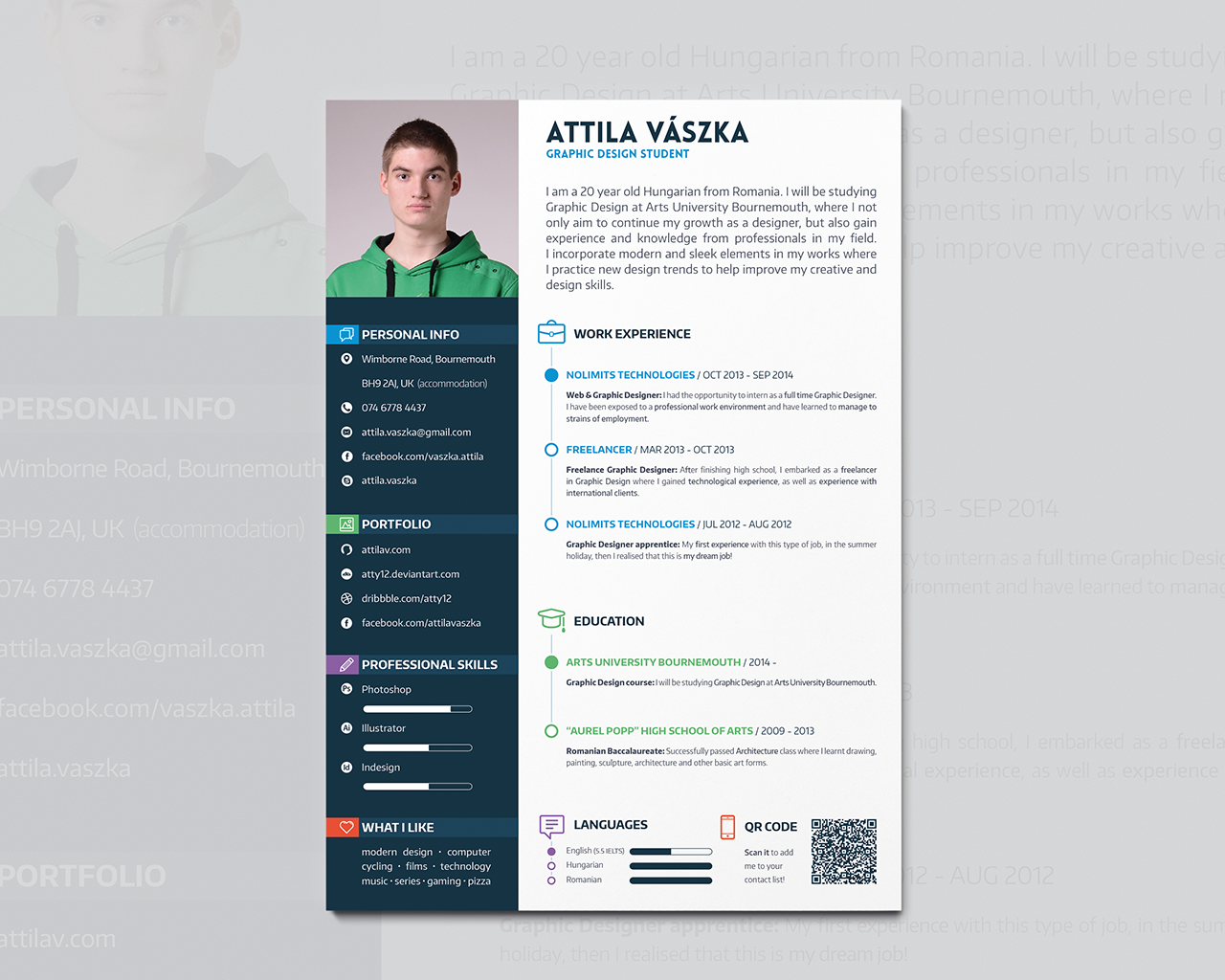cv resume design by atty12 on deviantart