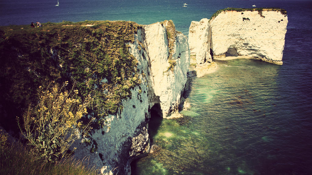 Old Harry Rocks - 4K Wallpaper by atty12