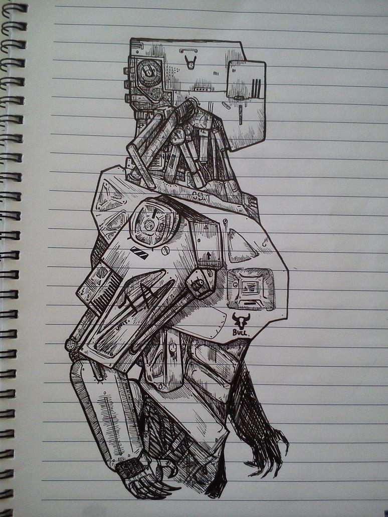 How To Draw Robot Gun