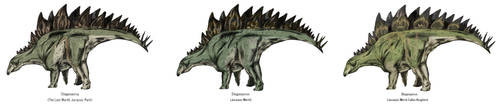 Jurassic Park Realistic- Stegosaurs by Gun345