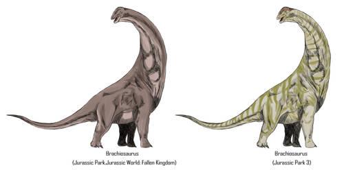 Jurassic Park Realistic- Brachiosaurs by Gun345