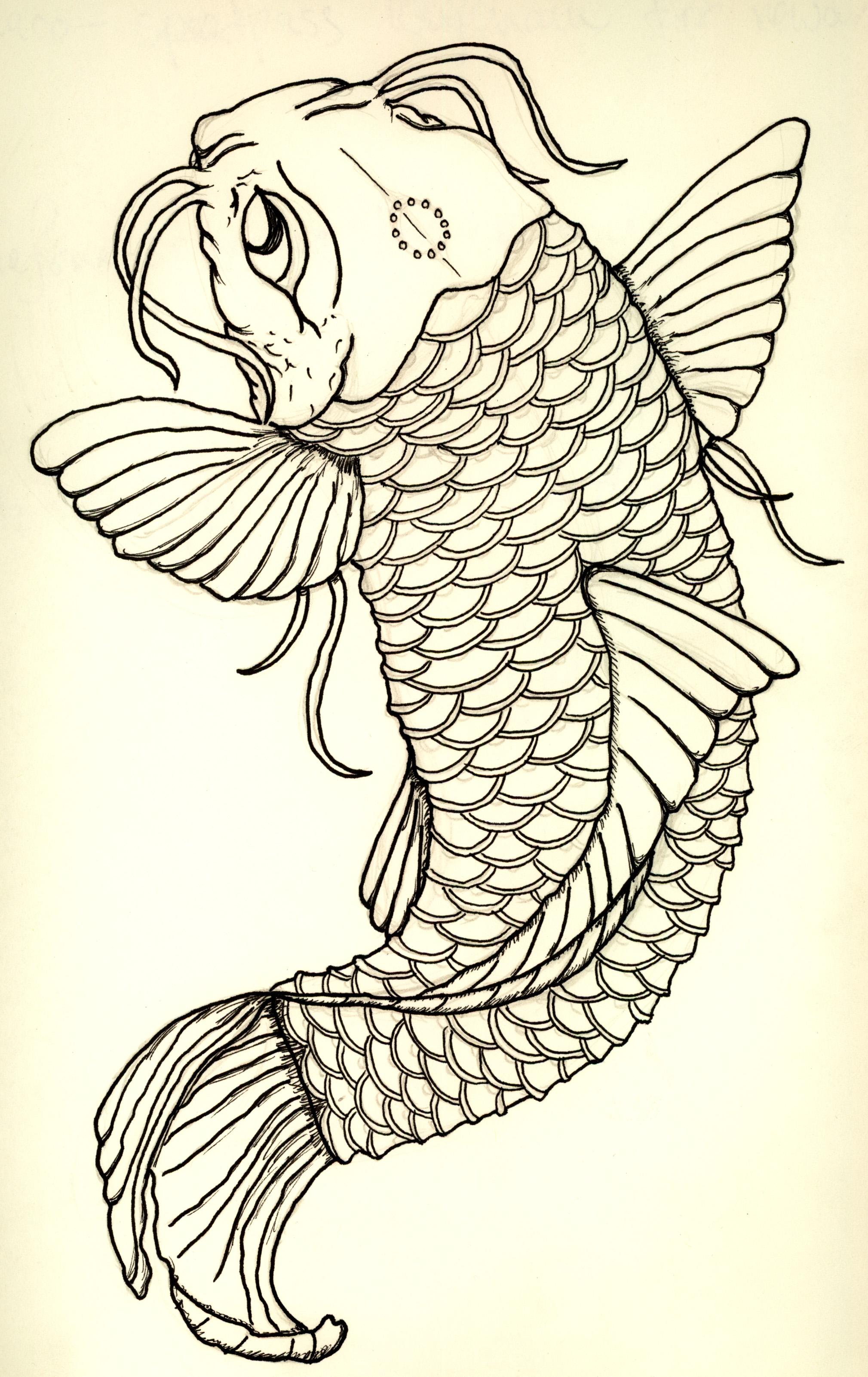 Fein Japanische Koi Fisch Malvorlagen Fotos - Entry Level Resume ...