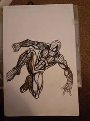 spider man commission inks