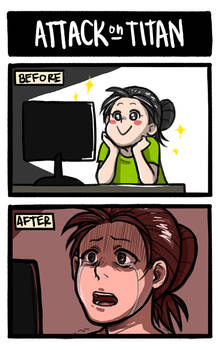 Attack on Titan: Before and After by nranola