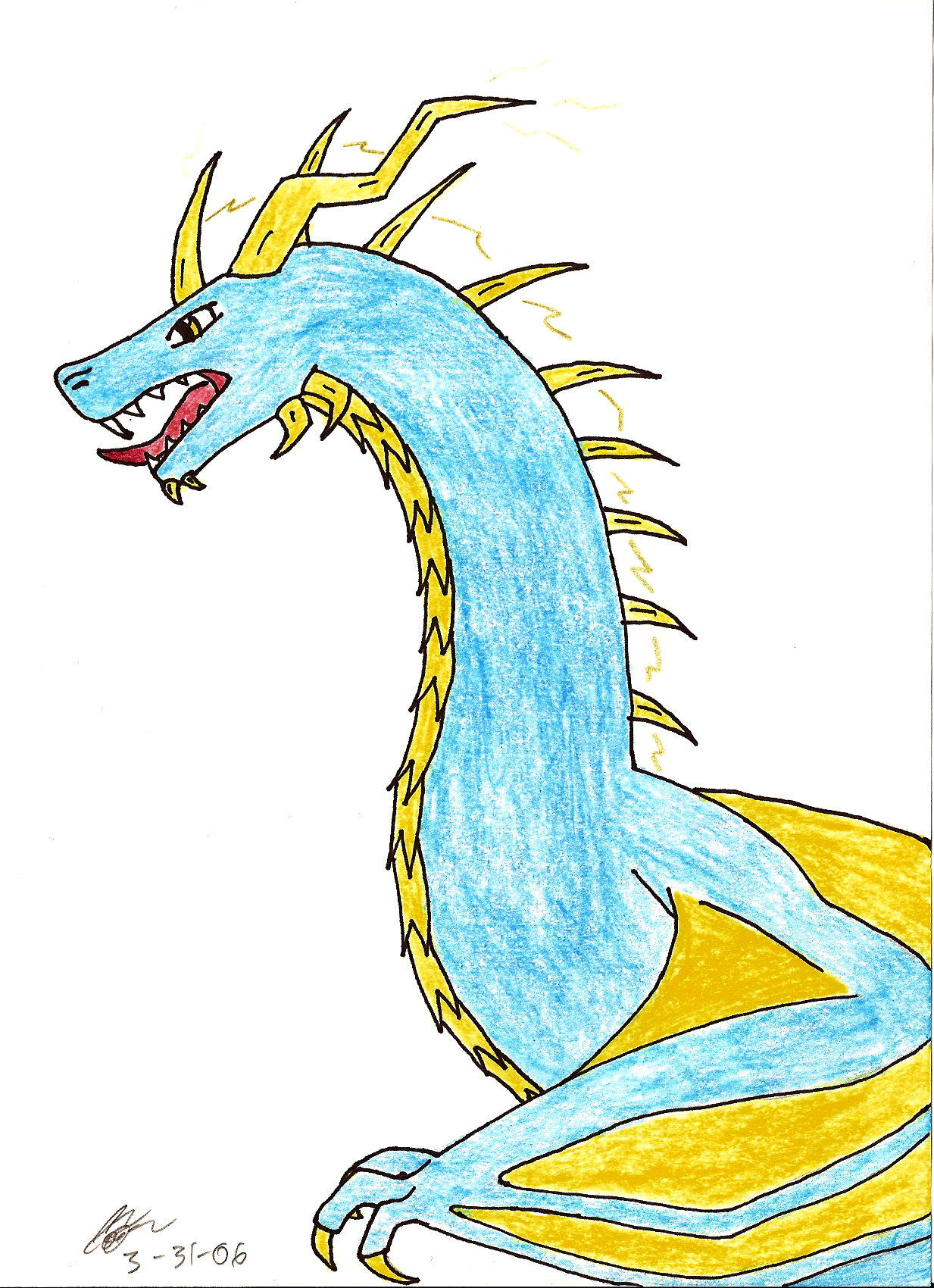 Lightning Dragon by Oliwollyoctosaurus on DeviantArt