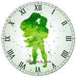 Ariel and Eric Watercolor Clock