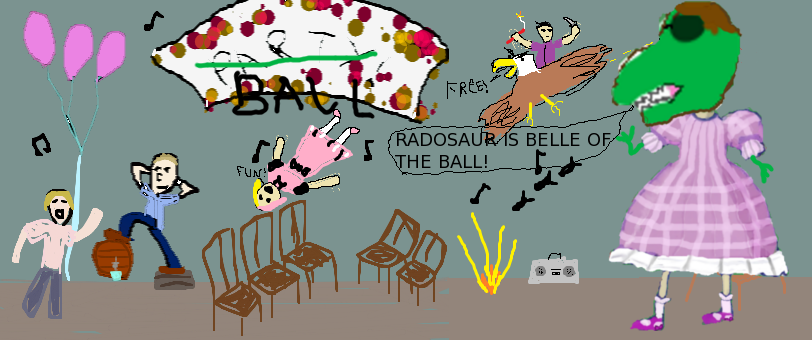 Radosaurus is belle of the ball by Torquill