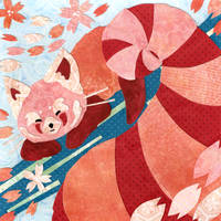 Pink Red Panda by missusrousselee