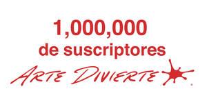 1 Millon de suscriptores en Arte Divierte!