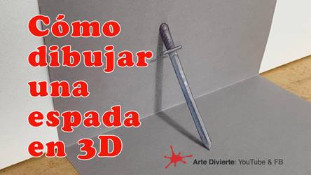 Como dibujar una espada en 3D! by LeonardoPereznieto