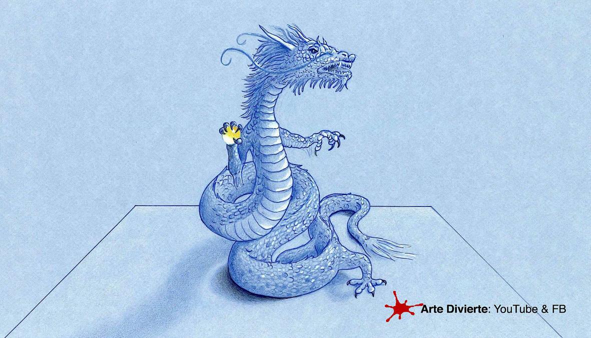 COMO DIBUJAR UN DRAGON CHINO (+-3D) by LeonardoPereznieto
