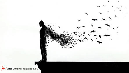 COMO DIBUJAR A BATMAN CON MURCIELAGOS
