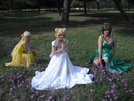 Princess Venus, Serenity and Jupiter by Sakura5002