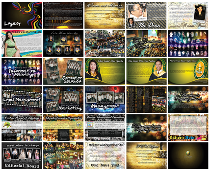 FEU Diliman Yearbook 2012 Layout