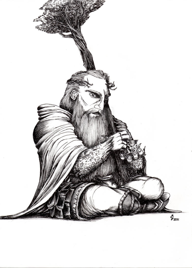 Nezzin_Hill Dwarf Druid by Enendill