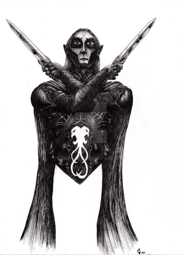 Elkantar Kul'Vahad_Drow Assassin by Enendill