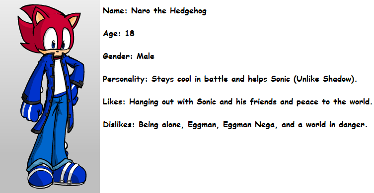 Naro the Hedgehog (with edited description) by quincyjazimar13