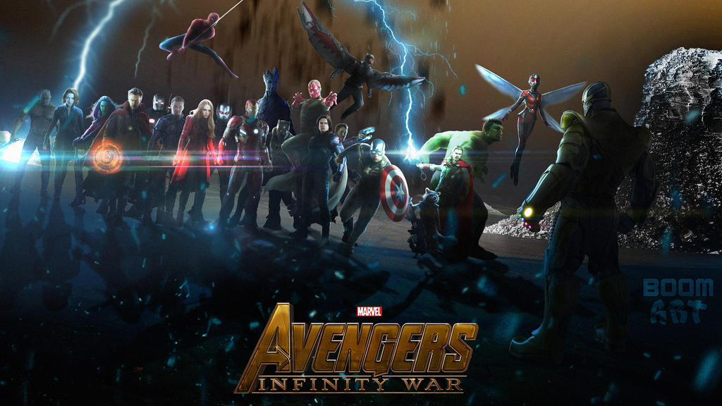 ULTIMATE AVENGERS INFINITY WAR WALLPAPER IN 4K By BoomArt16