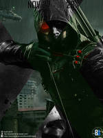 Crisis on Earth-X Green Arrow poster by BoomArt16