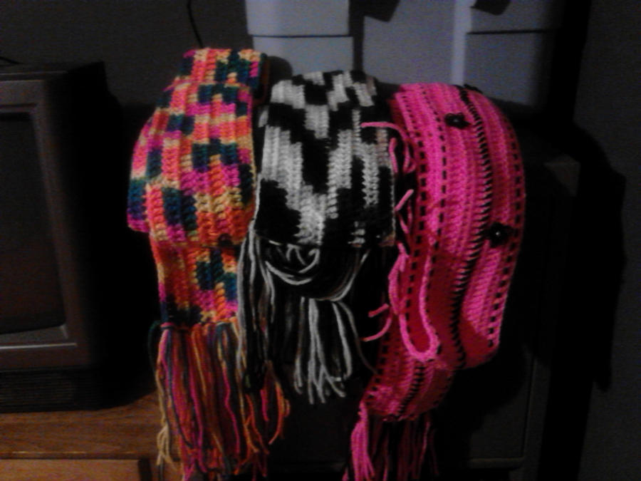 Handmade Crocheted Scarves For Sale by CherrelAnn on deviantART Handmade Scarves For Sale Online