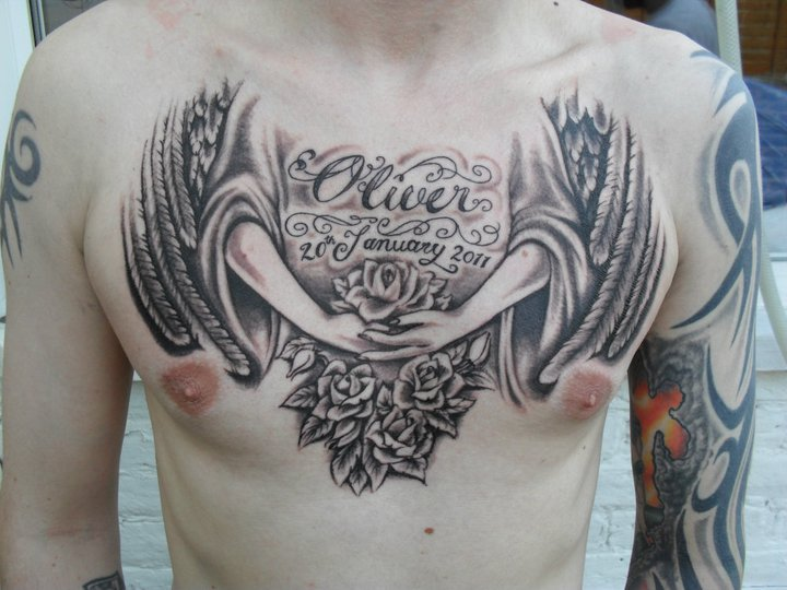 Guardian Angel tattoo by
