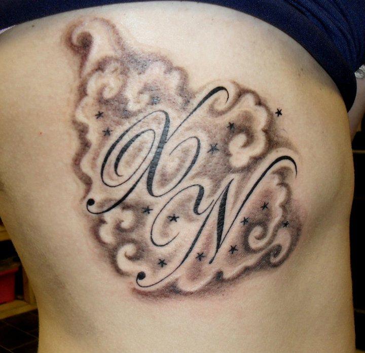 Initial tattoo  Etsy