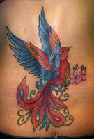 Phoenix cover up tattoo by onksy
