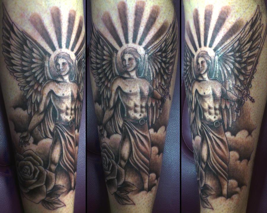 Male angel tattoo by onksy on DeviantArt