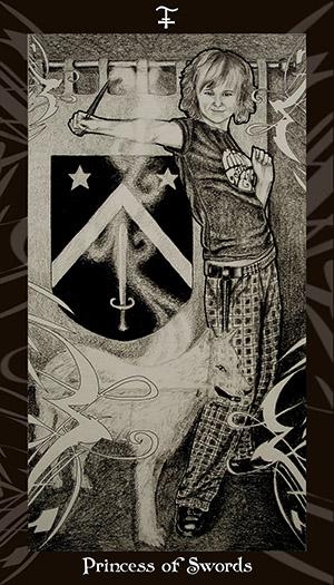 HP Tarot - Princess of Swords