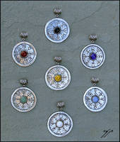 Medieval Planetary Talismans by Ellygator