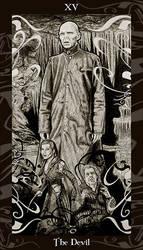 HP Tarot 15 - The Devil by Ellygator