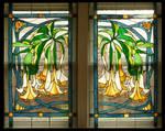 Datura Vines Window Pair
