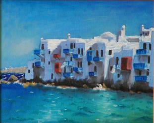 Little Venice, Mykonos, Greece by Ellygator