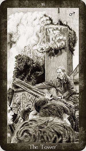 Tarot Harry Potter par Ellygator ( artiste et passionné de tarot )  16_the_tower_by_ellygator-d98sp2j