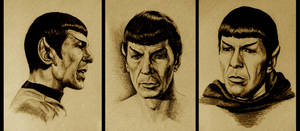 Three Drawings of Mr. Spock