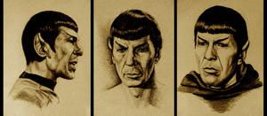 Three Drawings of Mr. Spock