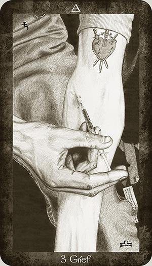Tarot Harry Potter par Ellygator ( artiste et passionné de tarot )  3_of_air__grief_by_ellygator-d9y5ox6