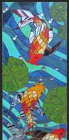 Koi Carp Window I by Ellygator