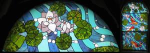 Koi Carp Window III by Ellygator
